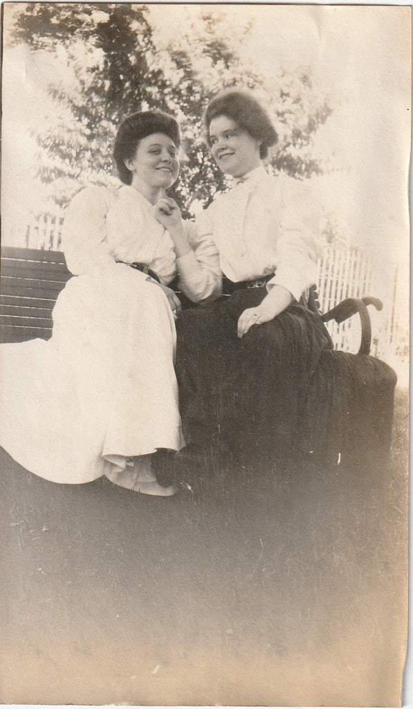 Edwardian Girlfriends Antique Photograph