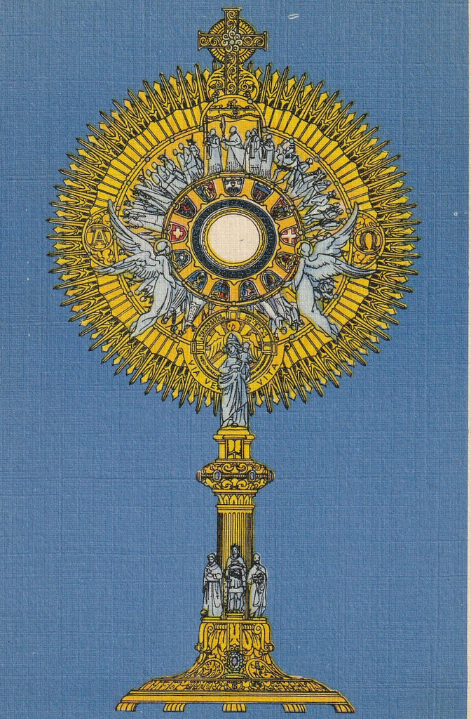 Eighth National Eucharistic Congress New Orleans Postcard Close Up