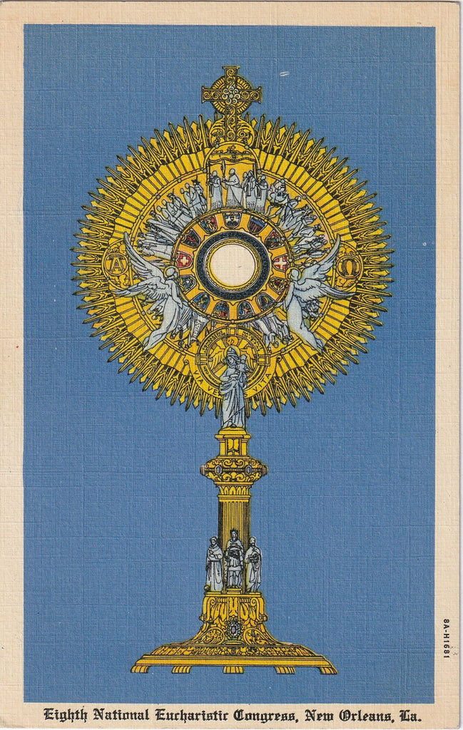 Eighth National Eucharistic Congress New Orleans Postcard