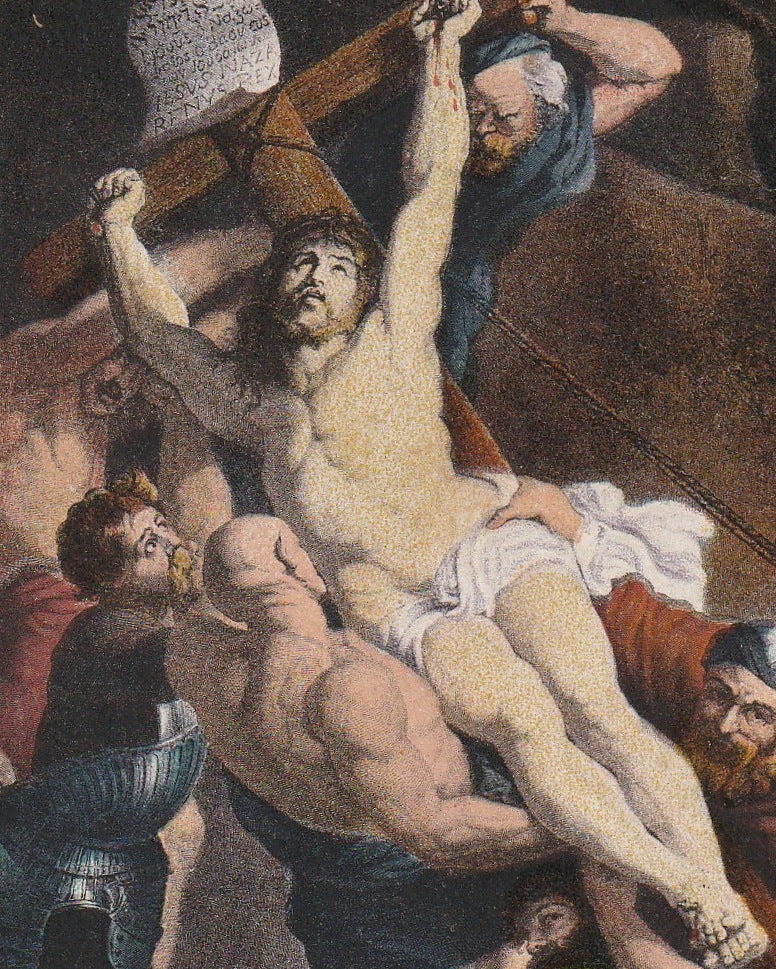 Elevation of the Cross  P. Rubens Postcard Close Up 2
