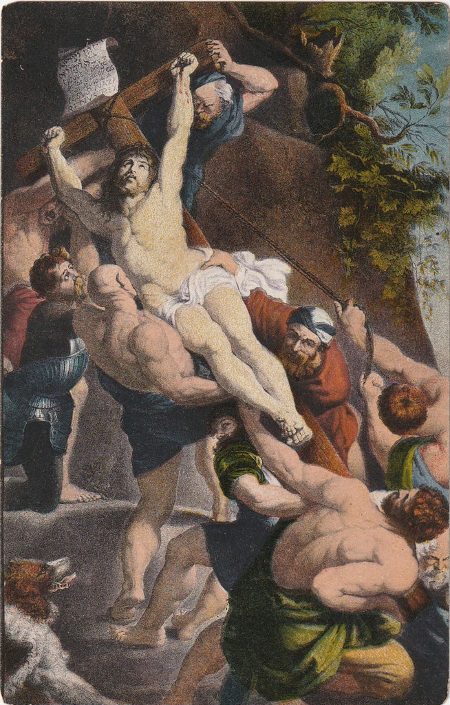 Elevation of the Cross  P. Rubens Postcard