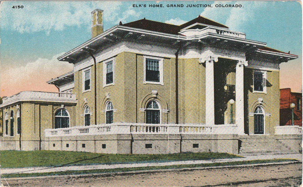 Elk's Home Grand Junction Colorado Postcard