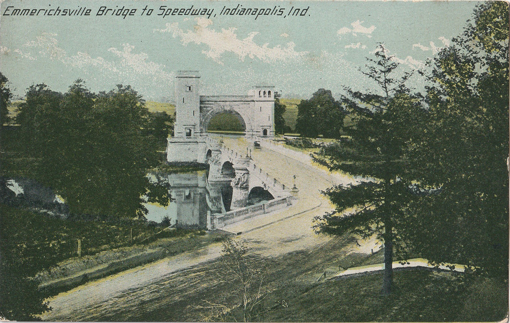 Emrichsville Bridge to Speedway Indianapolis Postcard