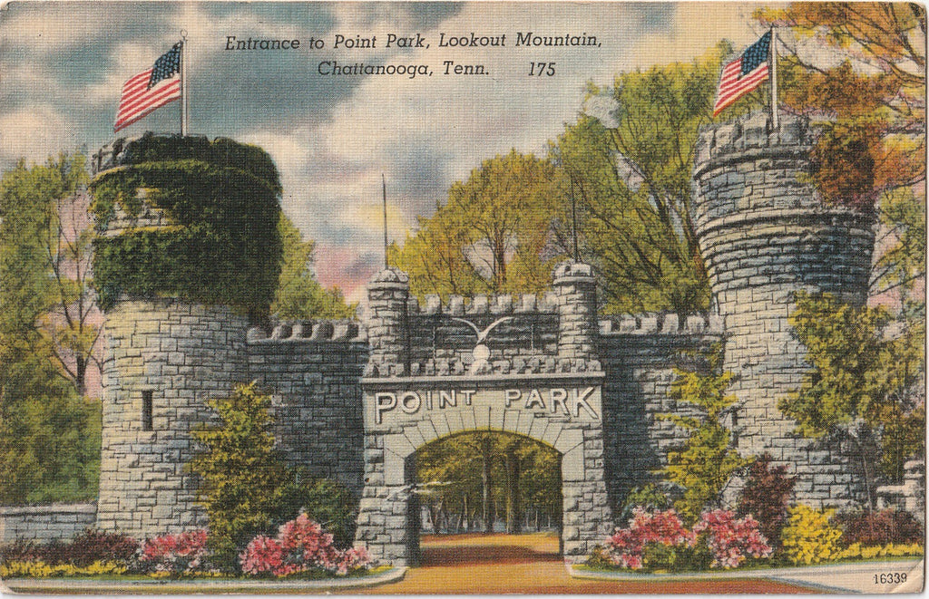 Entrance to Point Park Lookout Mountain Chattanooga Tennessee Postcard
