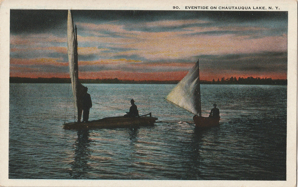 Eventide on Chautauqua Lake NY Postcard