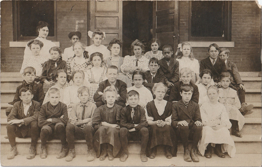 Edwardian School Children RPPC