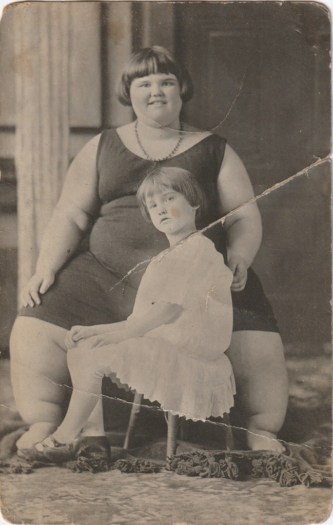 Fat Girl Human Oddity RPPC