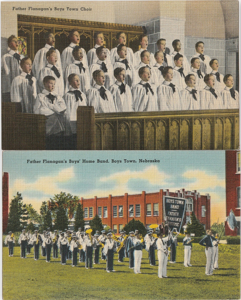 Father Flanagan's Boys' Home Boys Town Nebraska Postcards
