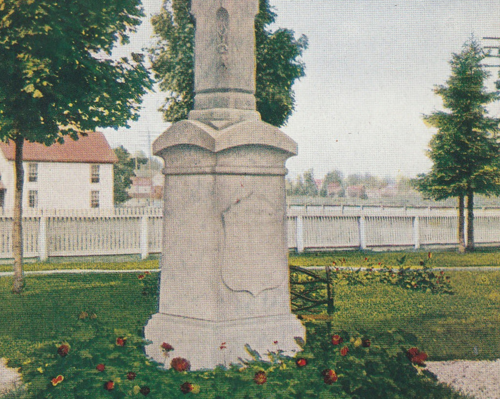 Father Marquette's Monument St. Ignace Michigan Postcard Close Up 2