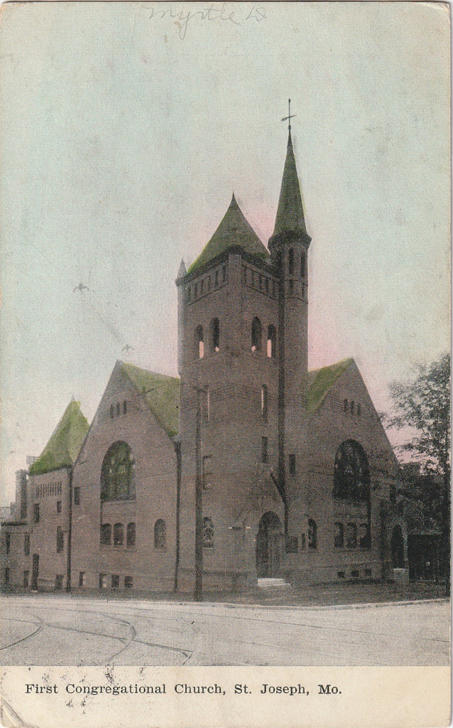 First Congregational Church St. Joseph Missouri Postcard