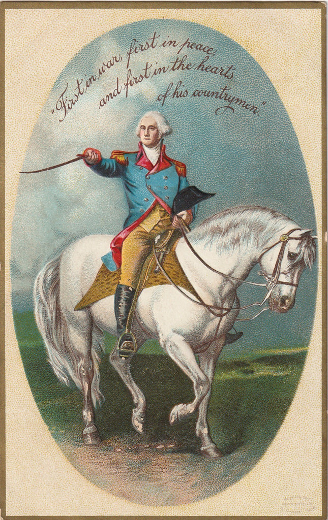 First in War and Peace George Washington Postcard