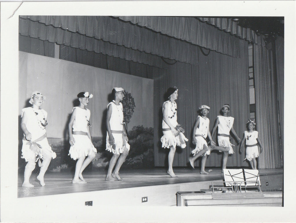 Flapper Boys Do the Charleston 1950s Vintage Photo