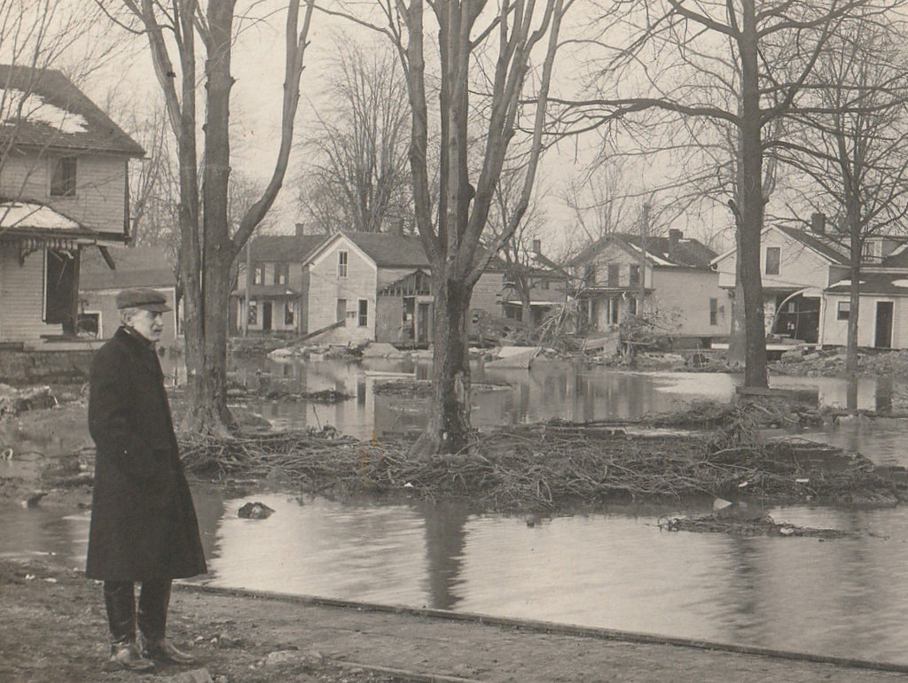 Flood Aftermath Antique RPPC