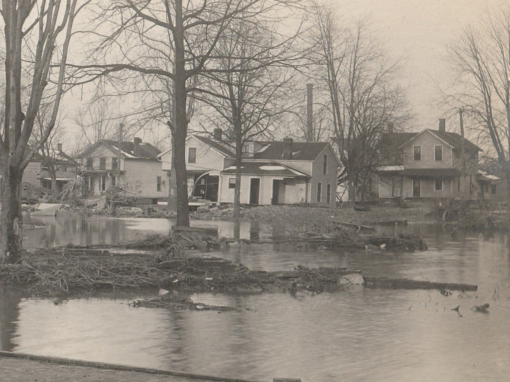 Flood Aftermath Antique RPPC Close Up