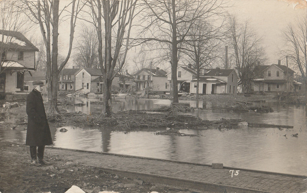 Flood Aftermath Antique Photo RPPC