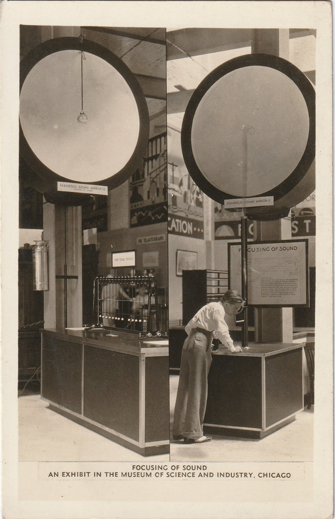 Focusing Sound Science and Industry Museum Chicago RPPC