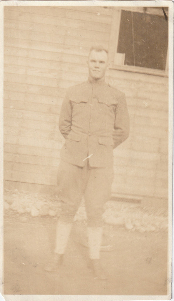 WWI Soldier Sepia Snapshot