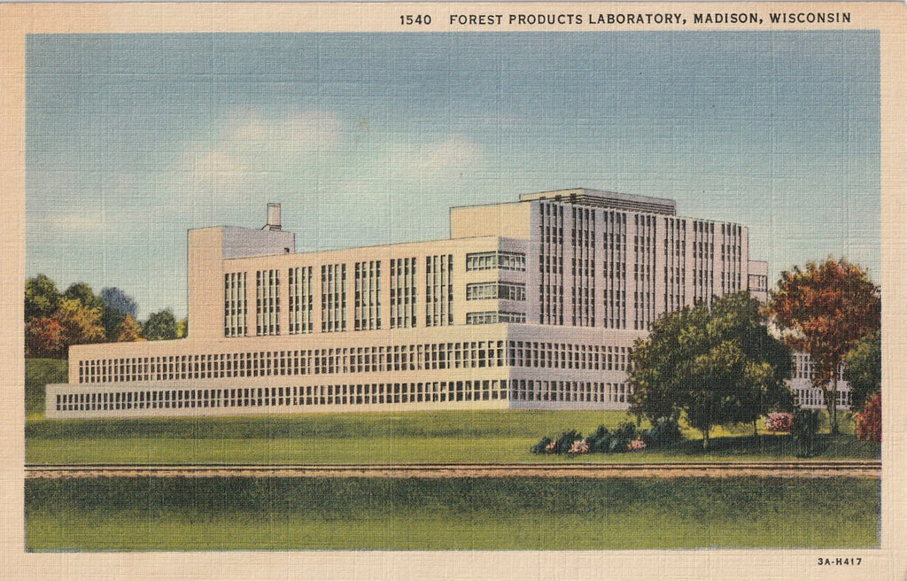 Forest Products Laboratory Madison WI Postcard
