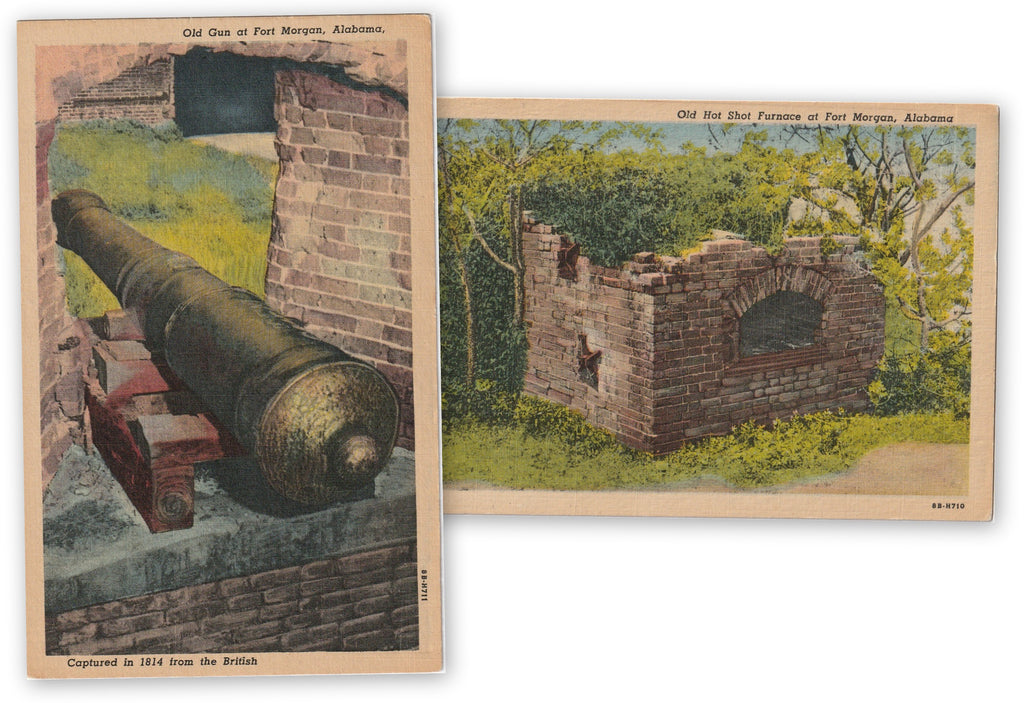 Fort Morgan Alabama Vintage Postcards