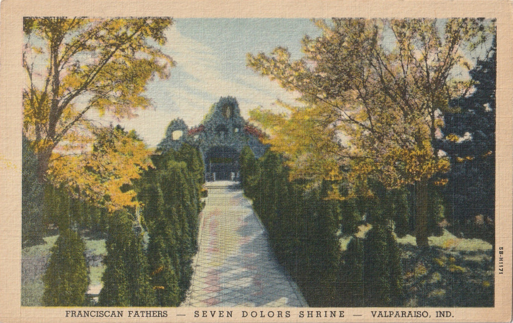 Franciscan Fathers Seven Dolors Shrine Valparaiso Indiana Postcard