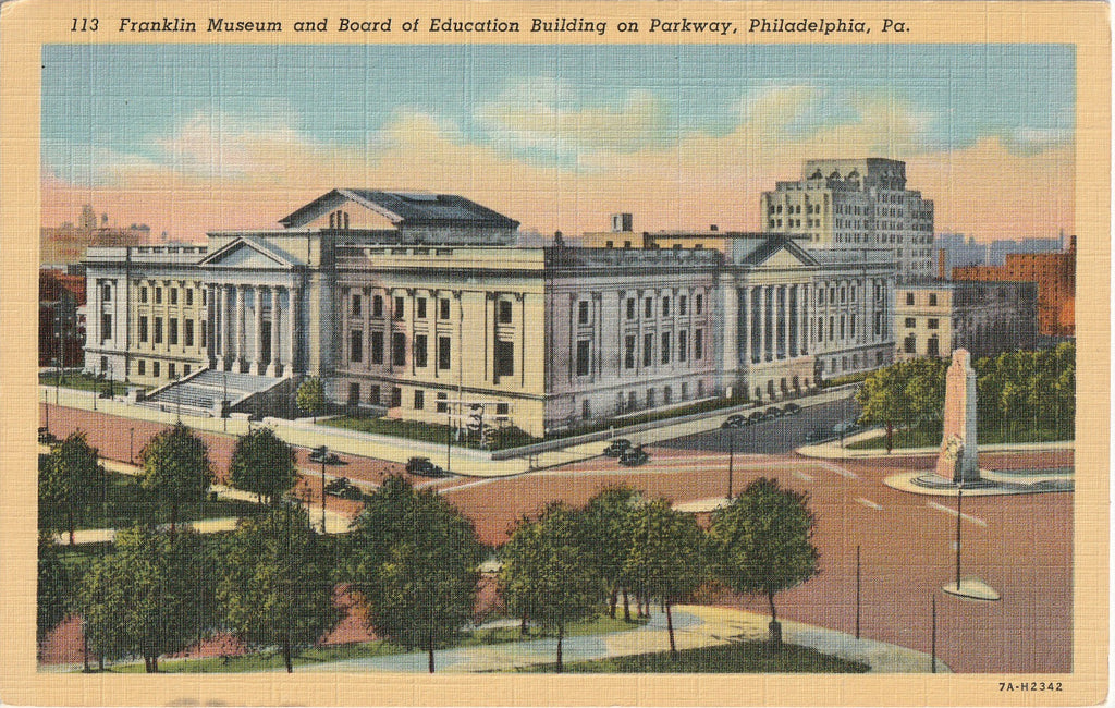 Franklin Museum and Board of Education Building Philadelphia PA Postcard