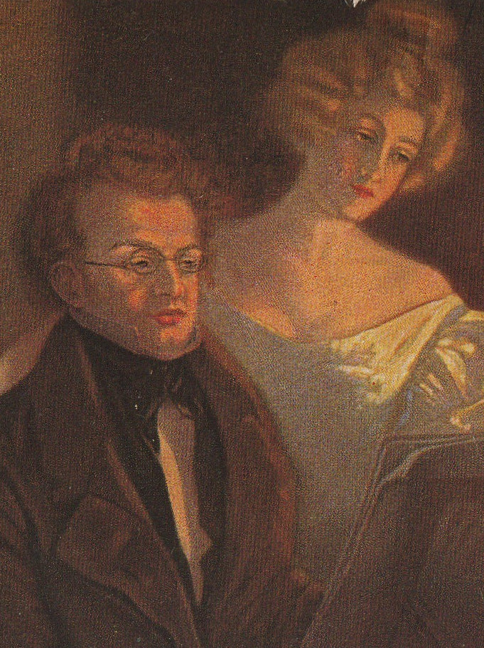 Franz Schubert at Piano Postcard Close Up 3