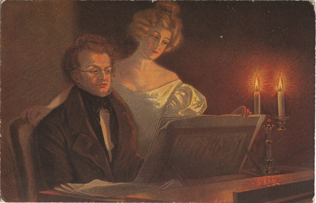Franz Schubert at Piano Postcard