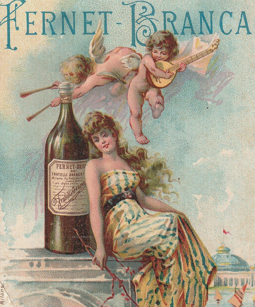 Fernet-Branca 1893 Columbian World's Fair Chicago Trade Card Close Up