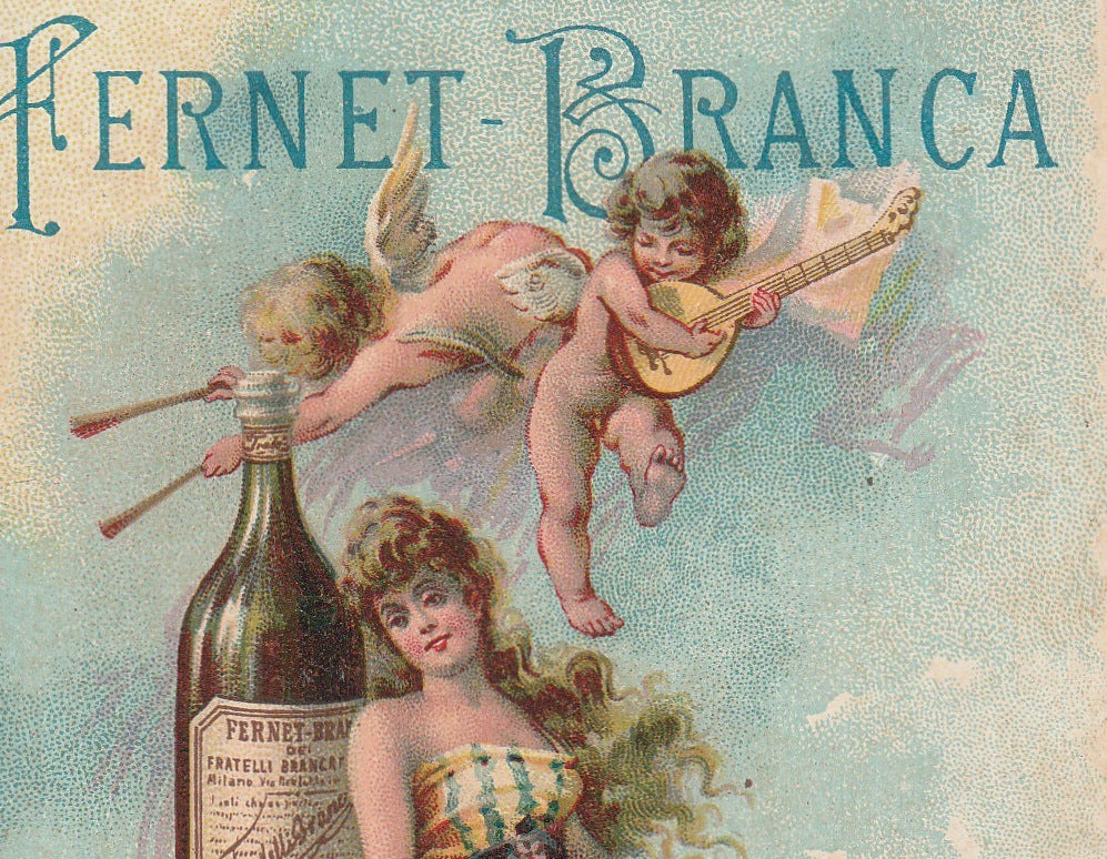 Fernet-Branca 1893 Columbian World's Fair Chicago Trade Card Close Up 2