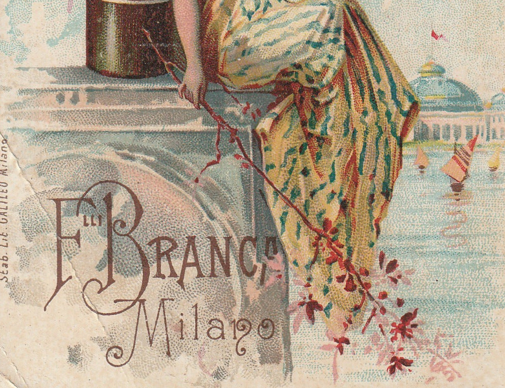 Fernet-Branca 1893 Columbian World's Fair Chicago Trade Card Close Up 3