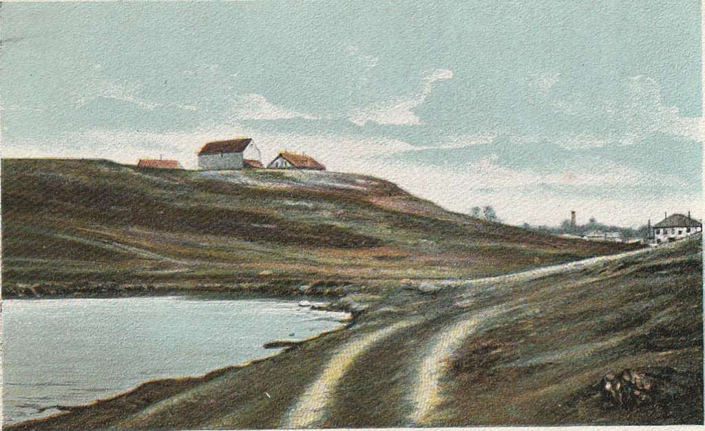 Gallows Hill Salem Mass Antique Postcard Close Up