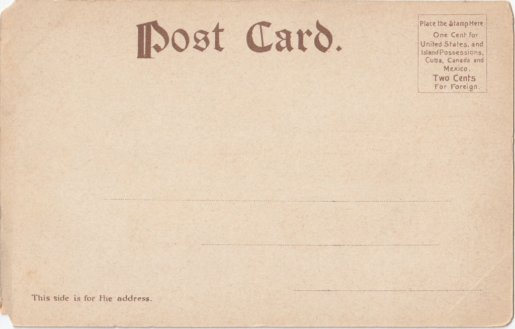 Gallows Hill Salem Mass Antique Postcard Back