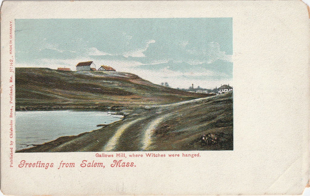 Gallows Hill Salem Mass Antique Postcard