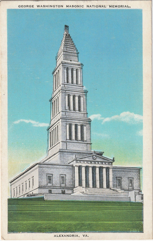 George Washington Masonic Memorial Vintage Postcard