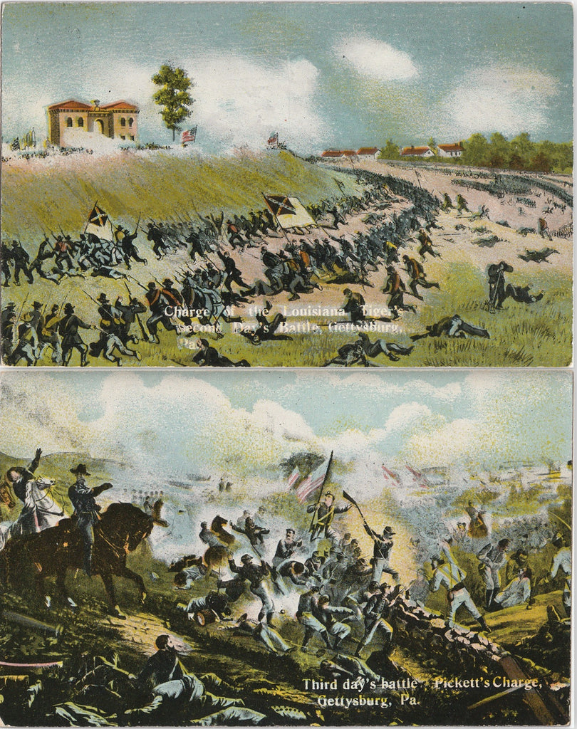 Pickett's Charge Gettysburg Postcards SET of 2