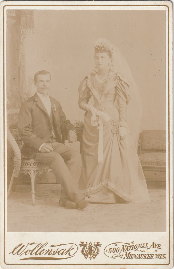 Ghostly Victorian Bride and Groom Cabinet Photo