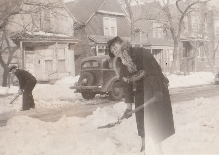 Blizzard Photograph Feb. 5th, 1939 Close Up