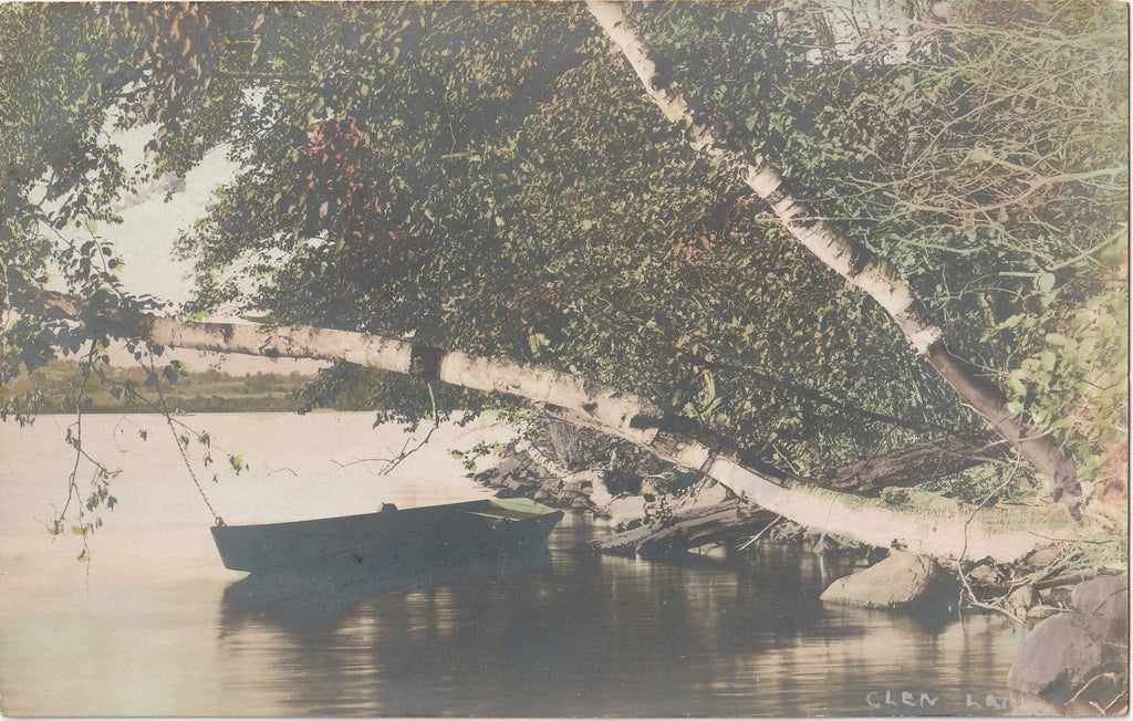 Glen Lake New York Hand Tinted RPPC Photo
