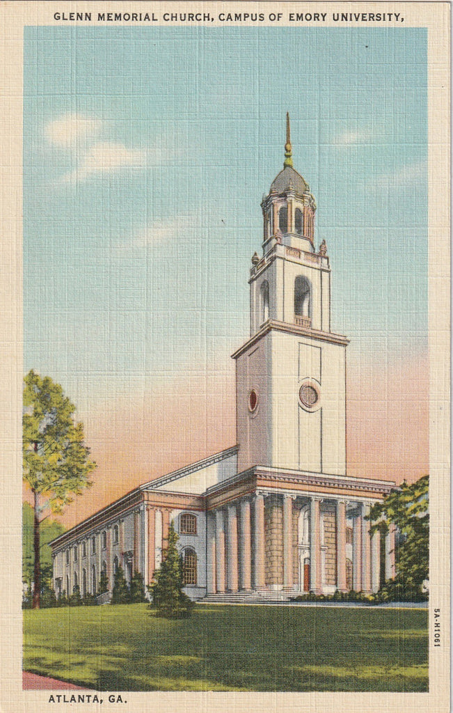 Glenn Memorial Church Campus of Emory University Atlanta Georgia Postcard