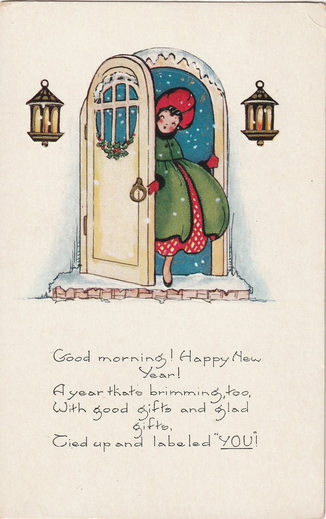 Good Morning Happy New Year Postcard