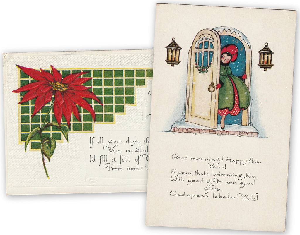 Season's Greetings 1920s Postcards