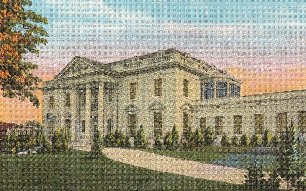 Governor's Mansion Baton Rouge Louisiana Postcard Close Up