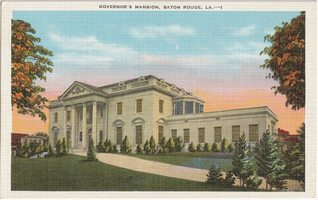 Governor's Mansion Baton Rouge Louisiana Postcard
