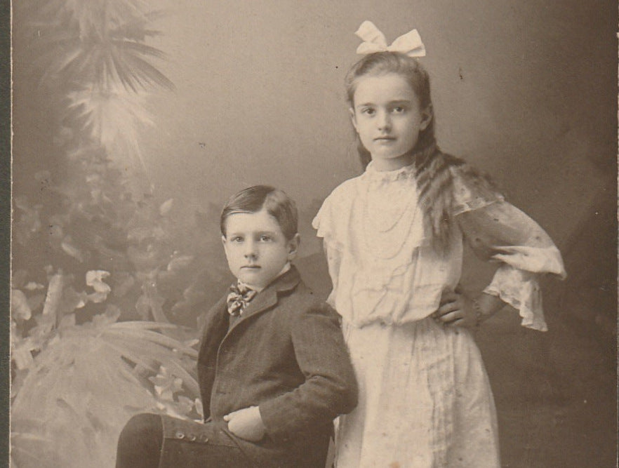 Grace and Oscar Dean Antique Cabinet Photo Close Up 2