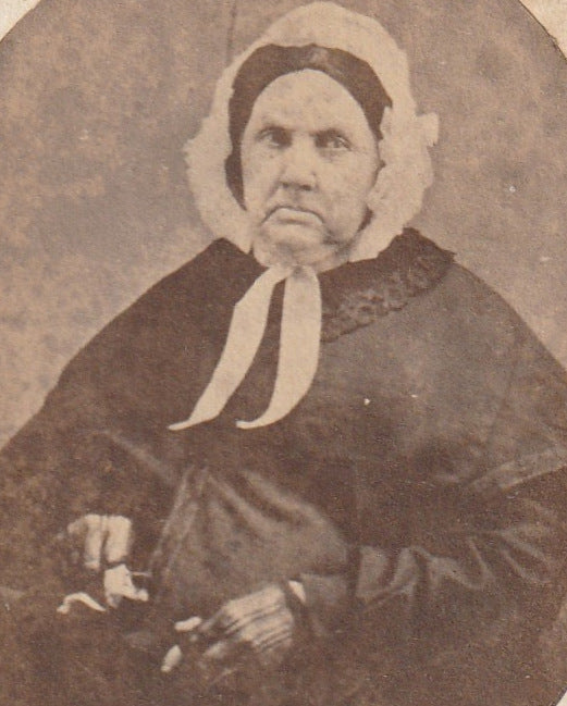 Grandmother Hurd Victorian Widow CDV Photo Close Up 2