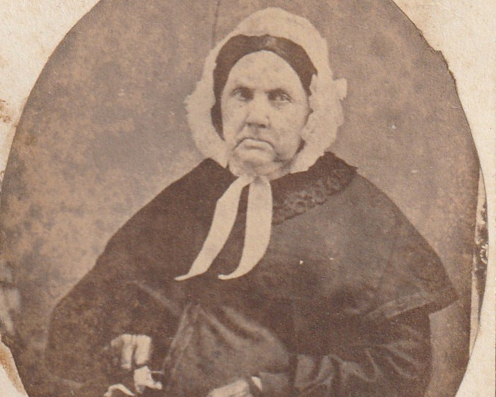 Grandmother Hurd Victorian Widow CDV Photo Close Up 3