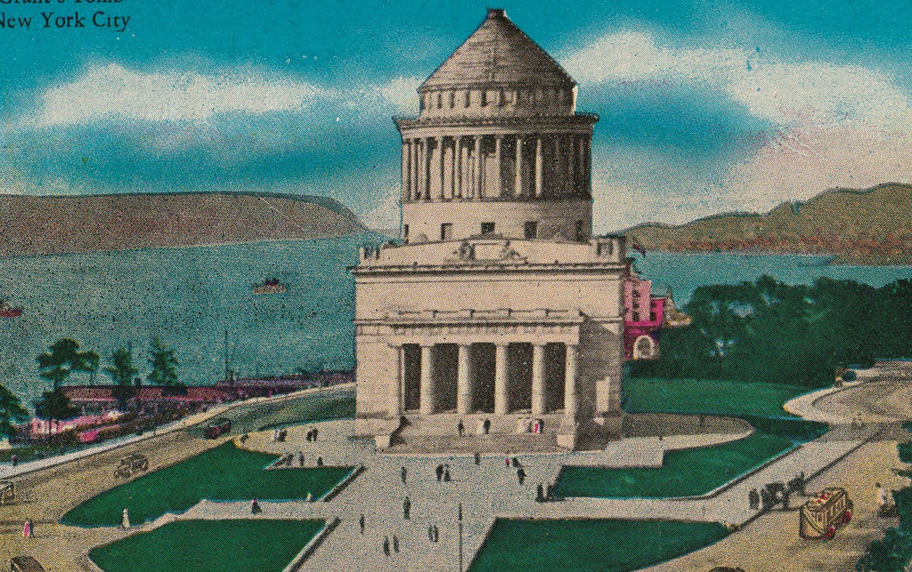 Grant's Tomb New York City Antique Postcard Close Up