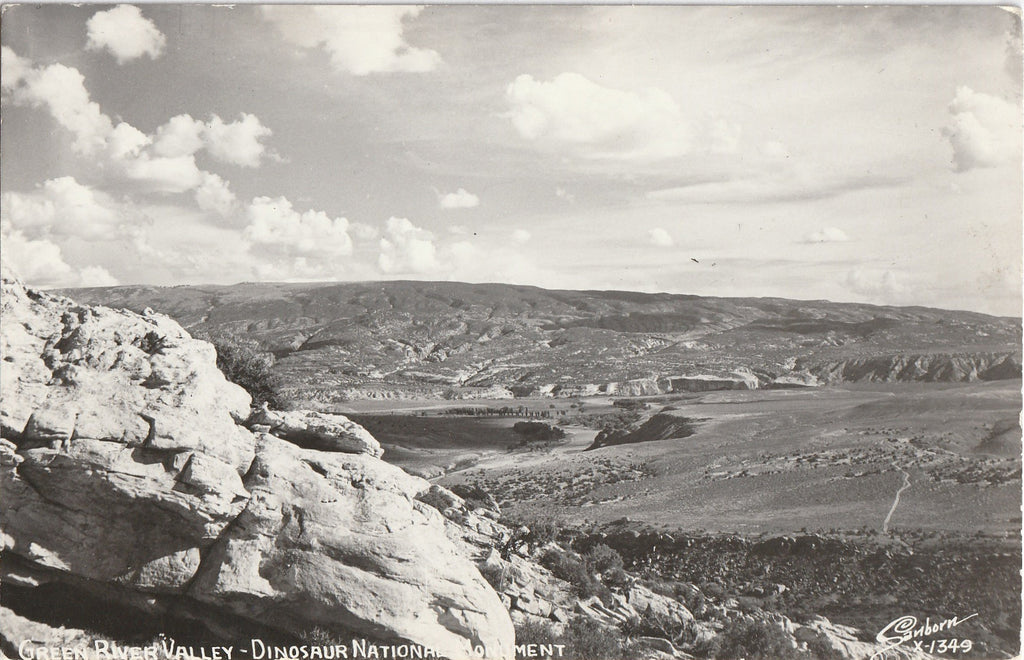 Green River Valley - Dinosaur National Monument - RPPC, c. 1950s