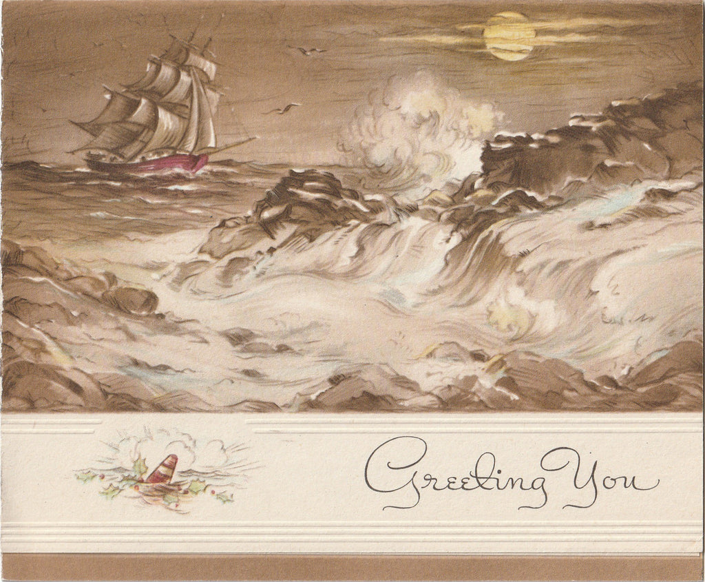 Greeting Your With Warm and Friendly Christmas Wishes - Card, c. 1940s
