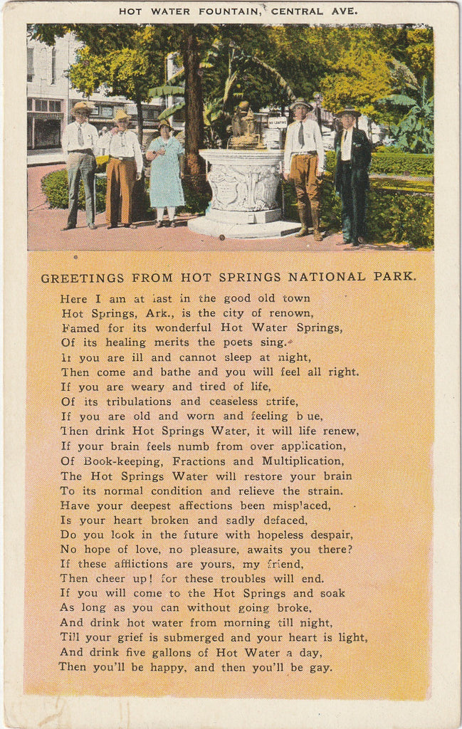 Greetings From Hot Springs National Park Arkansas Postcard